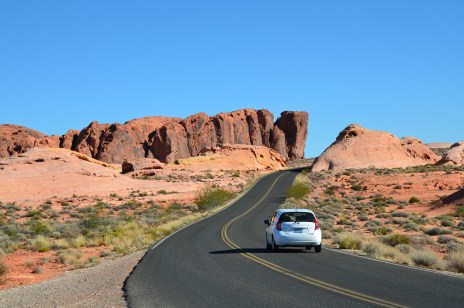 White Domes Road at Valley of Fire State Park in Nevada