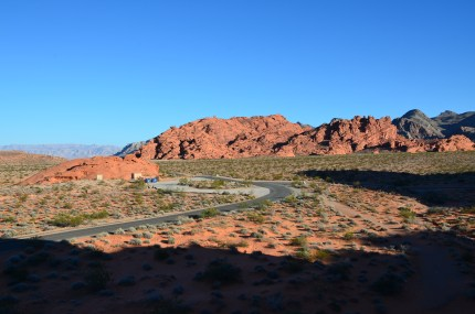 View from Atlatl Rock at Valley of Fire State Park in Nevada