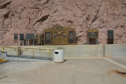 Memorials and monuments at Hoover Dam in Nevada