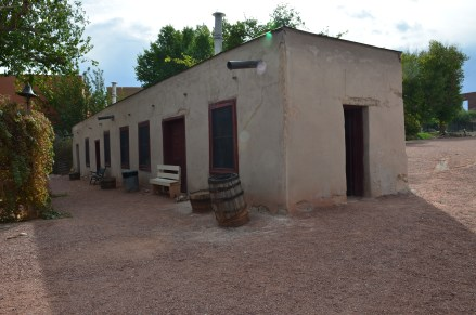 Building with original bricks at Old Las Vegas Mormon Fort State Historic Park in Nevada