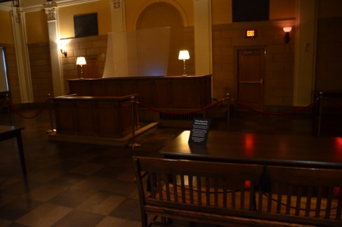 Courtroom at the Mob Museum in Las Vegas, Nevada