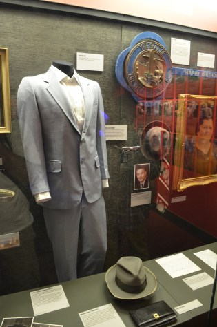 Mickey Cohen's suit at the Mob Museum in Las Vegas, Nevada