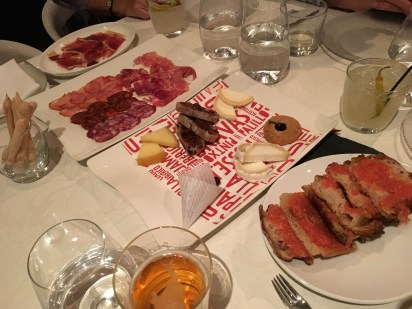 Meats, cheeses, and bread at Jaleo in Las Vegas, Nevada