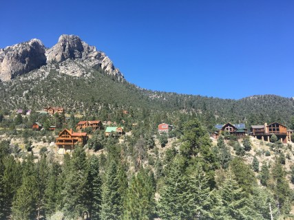 Homes along the scenic drive in Mount Charleston, Nevada