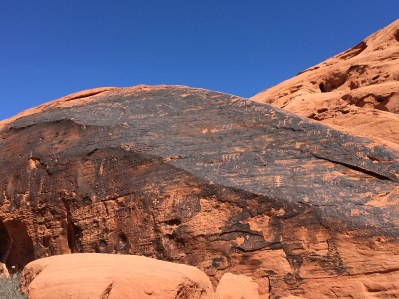 Petroglyphs on the Mouse's Tank Trail at Valley of Fire State Park in Nevada