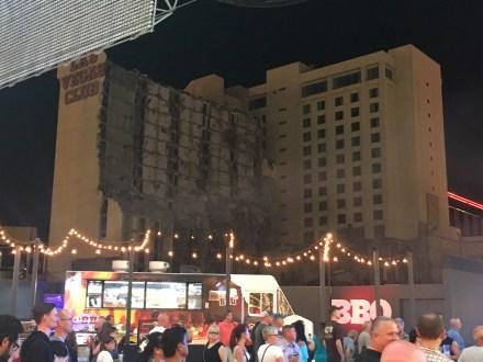 Demolition of the Las Vegas Club in 2017 in Las Vegas, Nevada