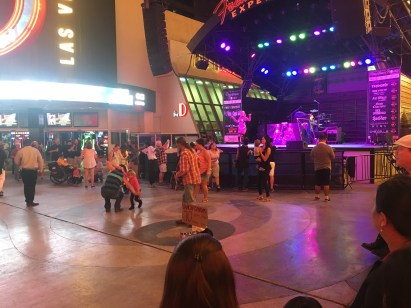 Live band at the Fremont Street Experience in Las Vegas, Nevada