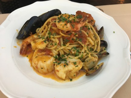 Seafood linguine at Canaletto in Las Vegas, Nevada