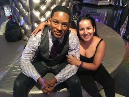 Marisol with Will Smith at Madame Tussauds Las Vegas