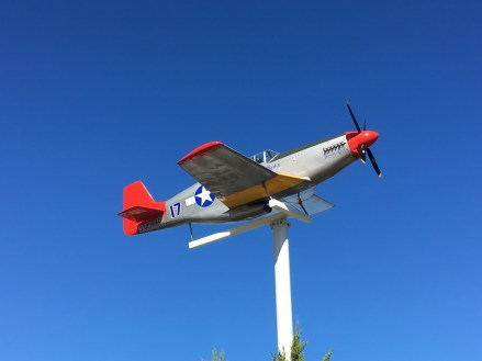 Replica Tuskegee Airmen plane at Marquette Park, Miller Beach, Gary, Indiana