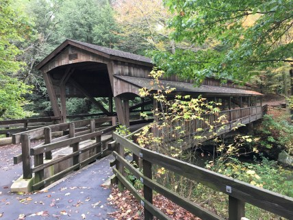 Covered Bridge at Mill Creek Park in Youngstown, Ohio