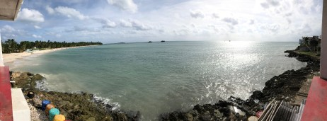 The view from Rocky Cay Bay in San Andrés, Colombia
