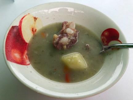 Soup at Tamara in San Andrés, Colombia