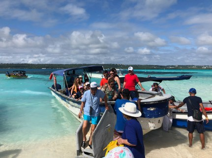 Arriving at Acuario in San Andrés, Colombia