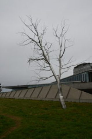 Split by Roxy Paine at Olympic Sculpture Park in Seattle, Washington