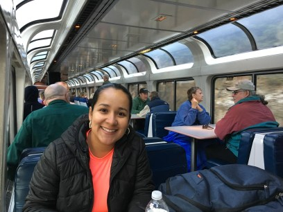 Observation car on the Amtrak Empire Builder from Seattle to Chicago