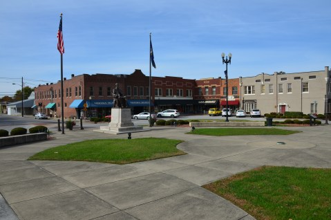 Lincoln Square Circle in Hodgenville, Kentucky