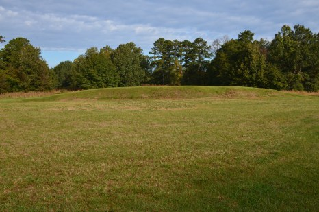 Cornfield Mound at Ocmulgee National Monument in Macon, Georgia