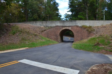 Railroad overpass at Ocmulgee National Monument in Macon, Georgia