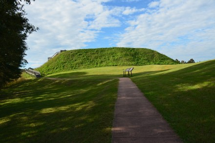 Great Temple Mound at Ocmulgee National Monument in Macon, Georgia