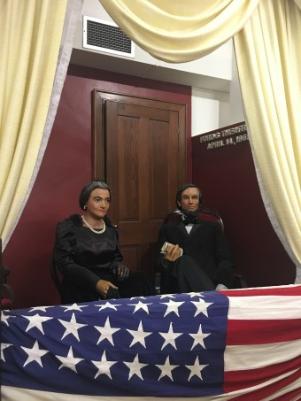 Lincoln's assassination at the Lincoln Museum in Hodgenville, Kentucky