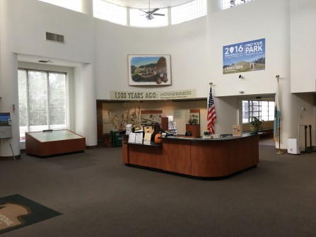 Visitor center at Ocmulgee National Monument in Macon, Georgia