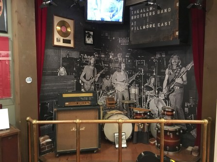 Fillmore East Room at The Big House Museum in Macon, Georgia