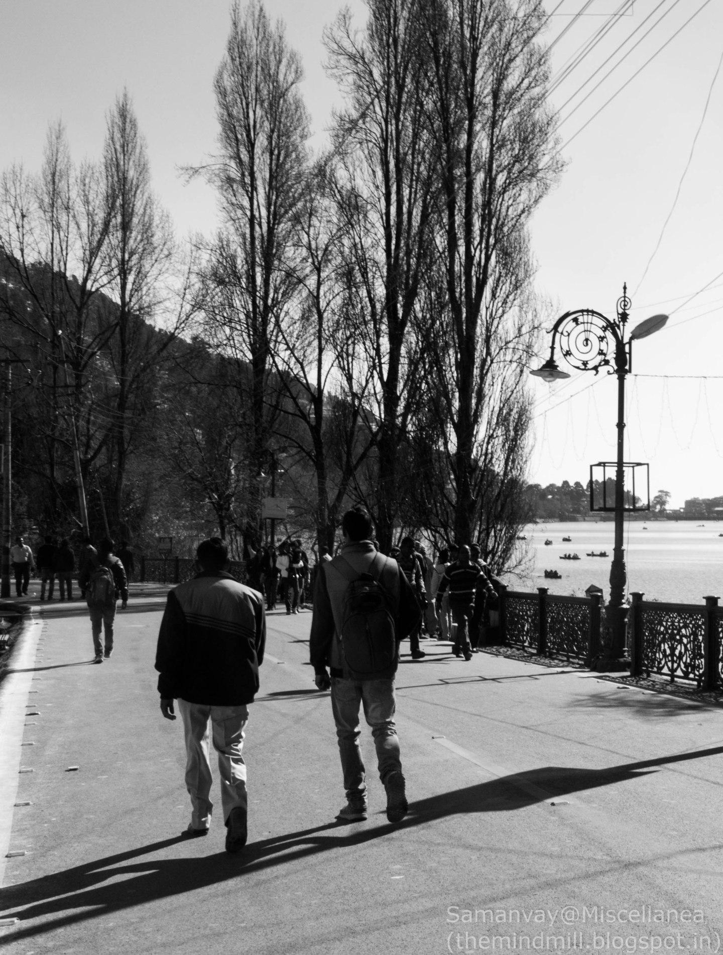 The Mall Road at Nainital