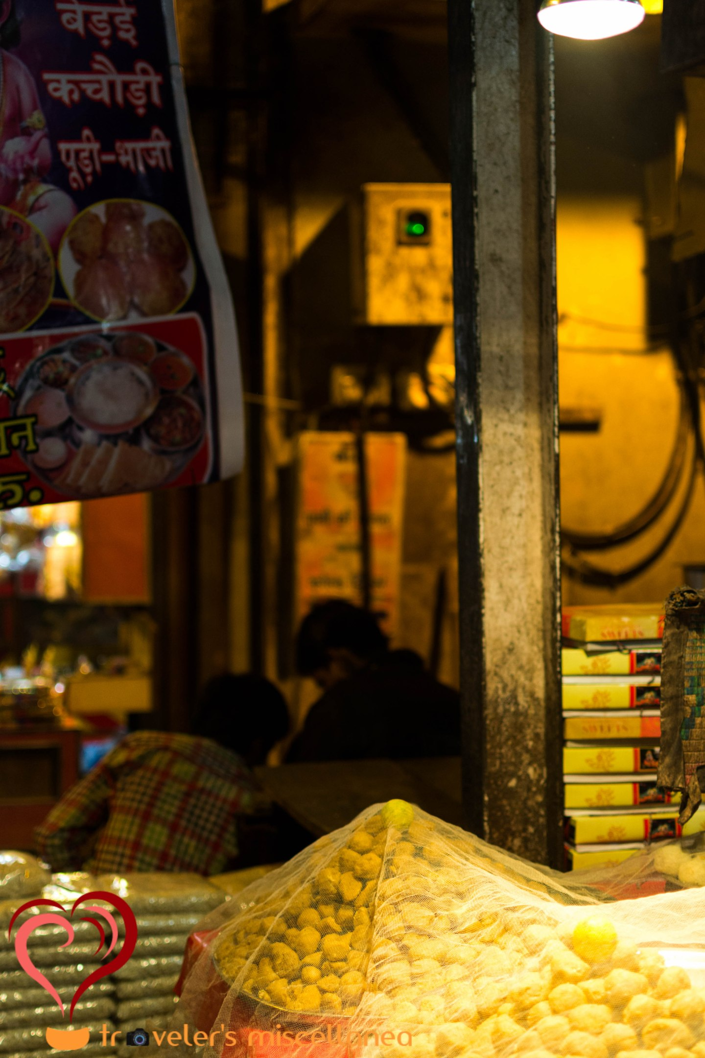 Vrindavan's Alley of Food