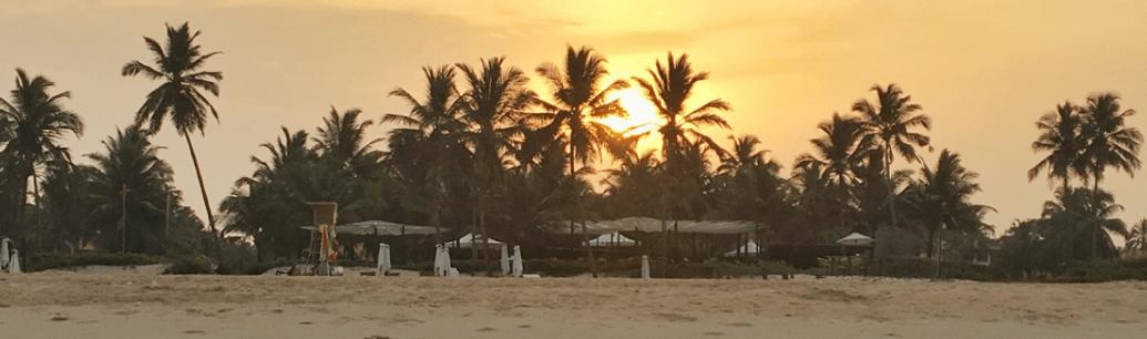 The Beautiful Sunrise at Park Hyatt Goa