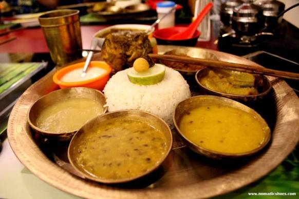Traditional Assamese Thali