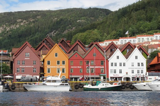 The colourful houses of Bryggen