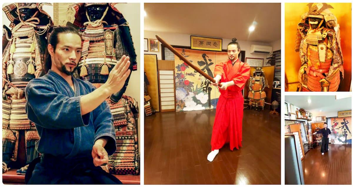 expériences Airbnb en famille cours Tokyo entrainement samouraï