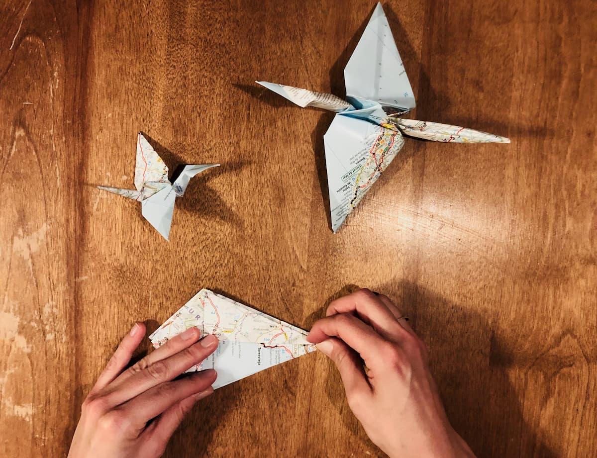 origami mappemonde