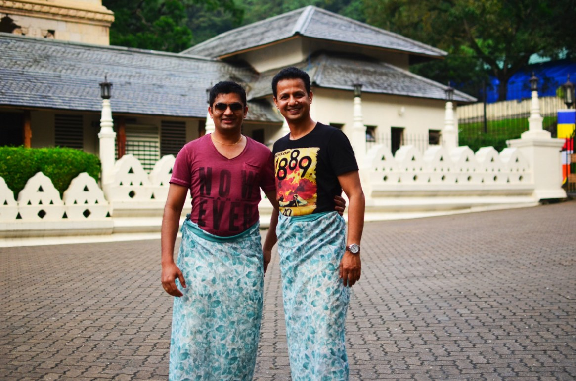 Ajay & Me - Finally being permitted to enter the Temple with wrap around