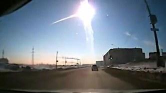 チェリャビンスク隕石が分裂する画像