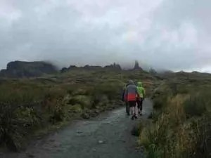 Hiking Isle of Skye 's Old Man of Storr