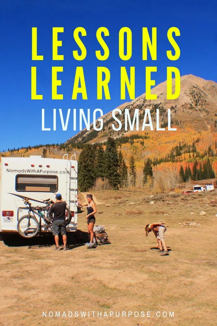 Lessons Learned Living Small