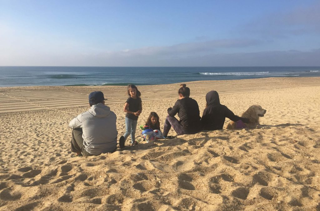 Reason to visit Hossegor, France- chilling on the beach