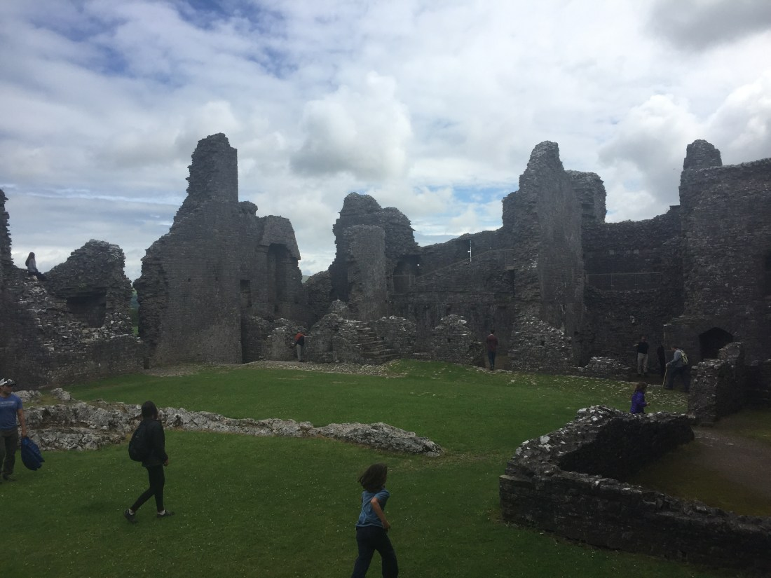 nomadswithapurpose, traveling with kids, european travel, best castles in europe, castles in europe, carreg cennen castle, welsh castles, best castles in uk