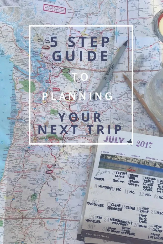 5 steps to planning your next trip