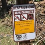 Uphill Mountain Biking Only, Trail Sign for Peter Skene Ogden Trail OR