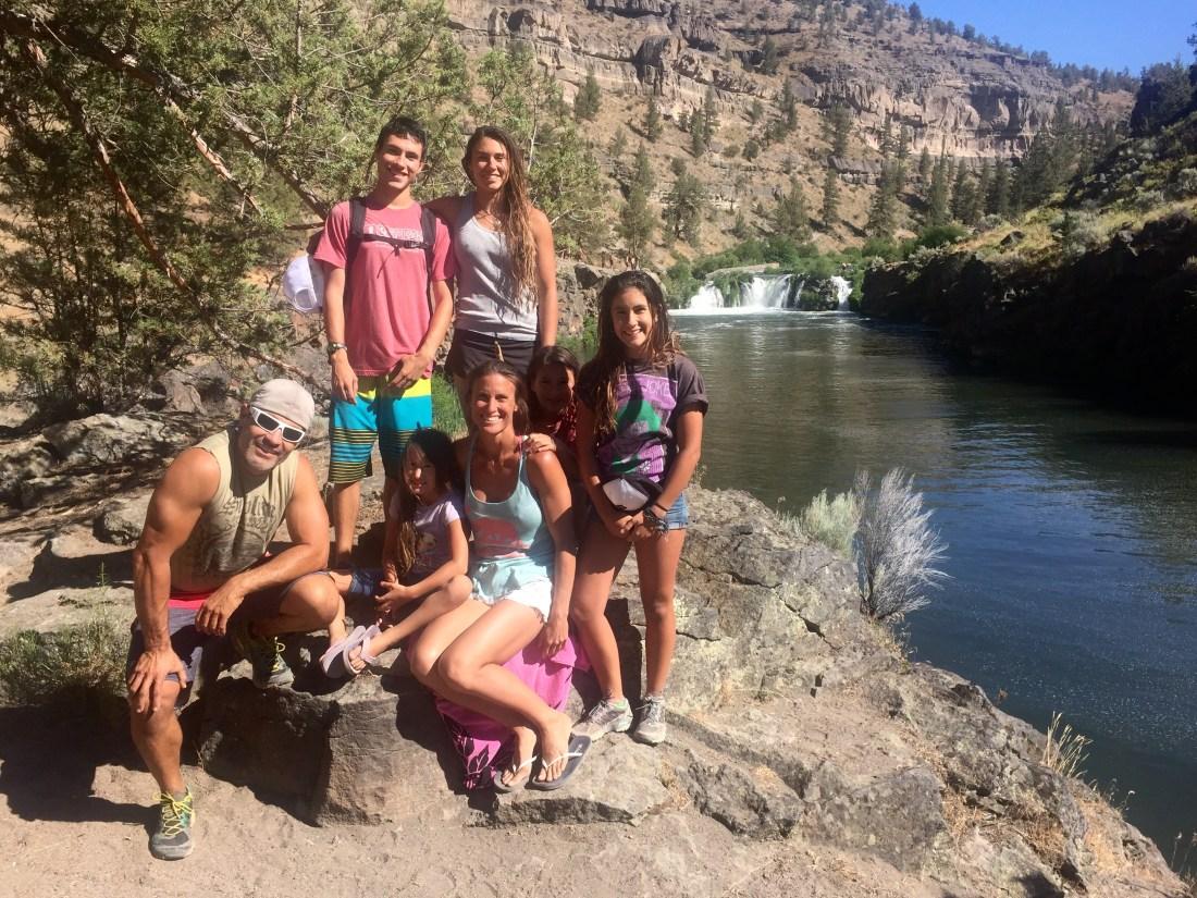 waterfalls on summer adventure road trip