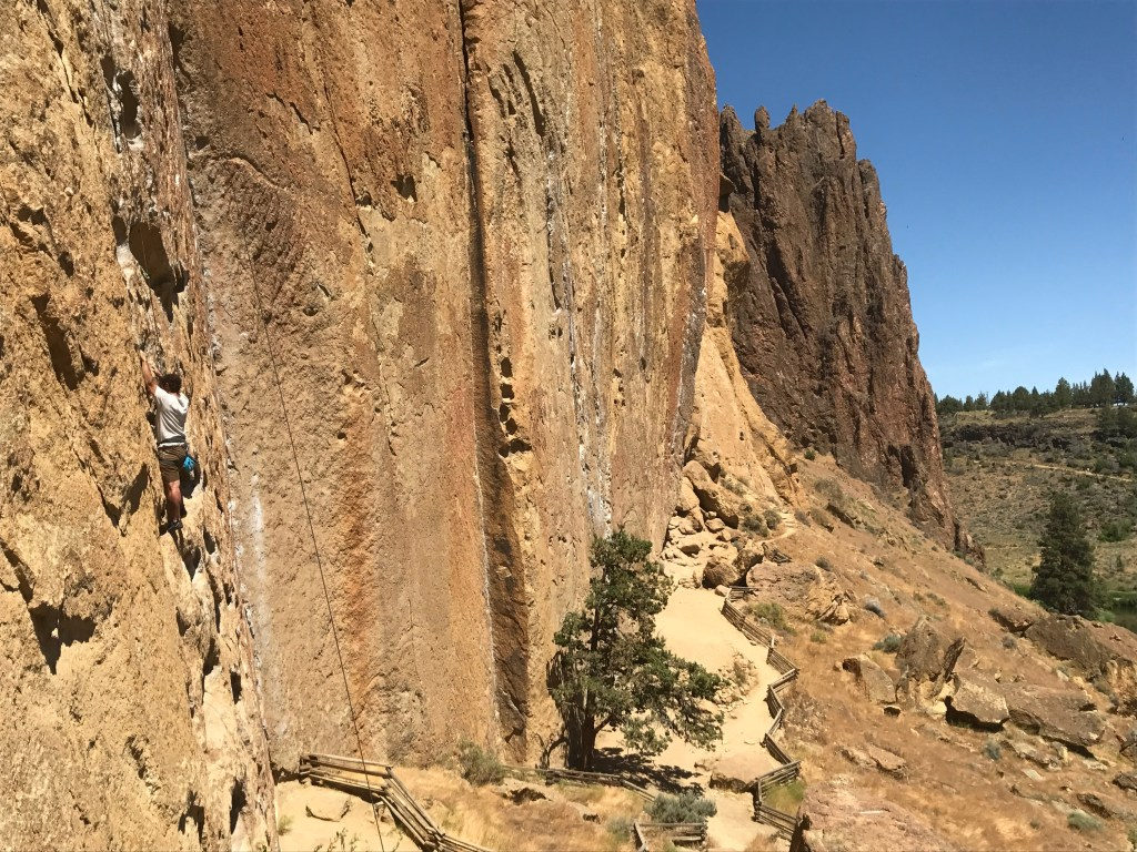 rock climbing smith rock on our summer adventure road trip