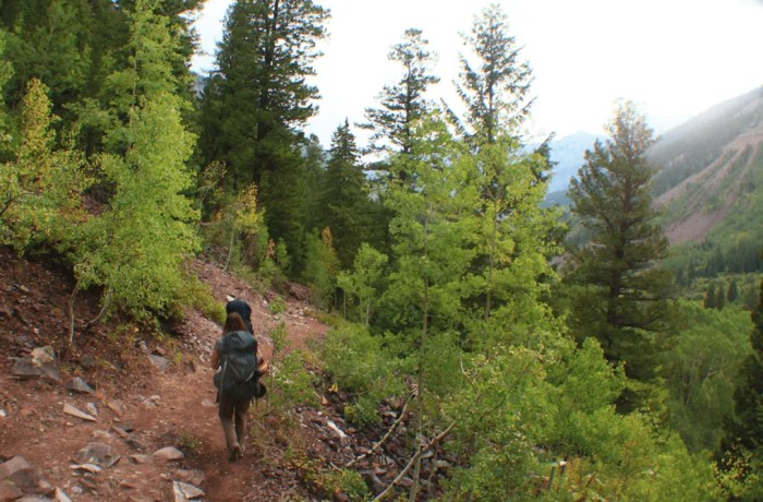 The final 4 miles, Backpacking the Maroon Bells Four Pass Loop