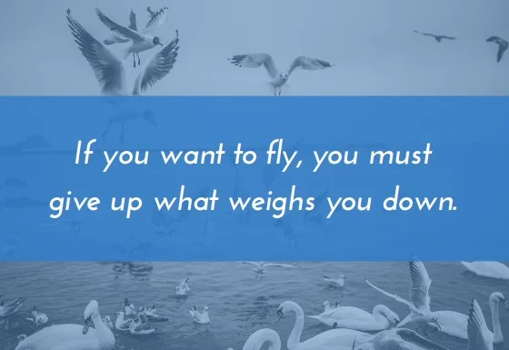 Find your bhavana- if you want to fly