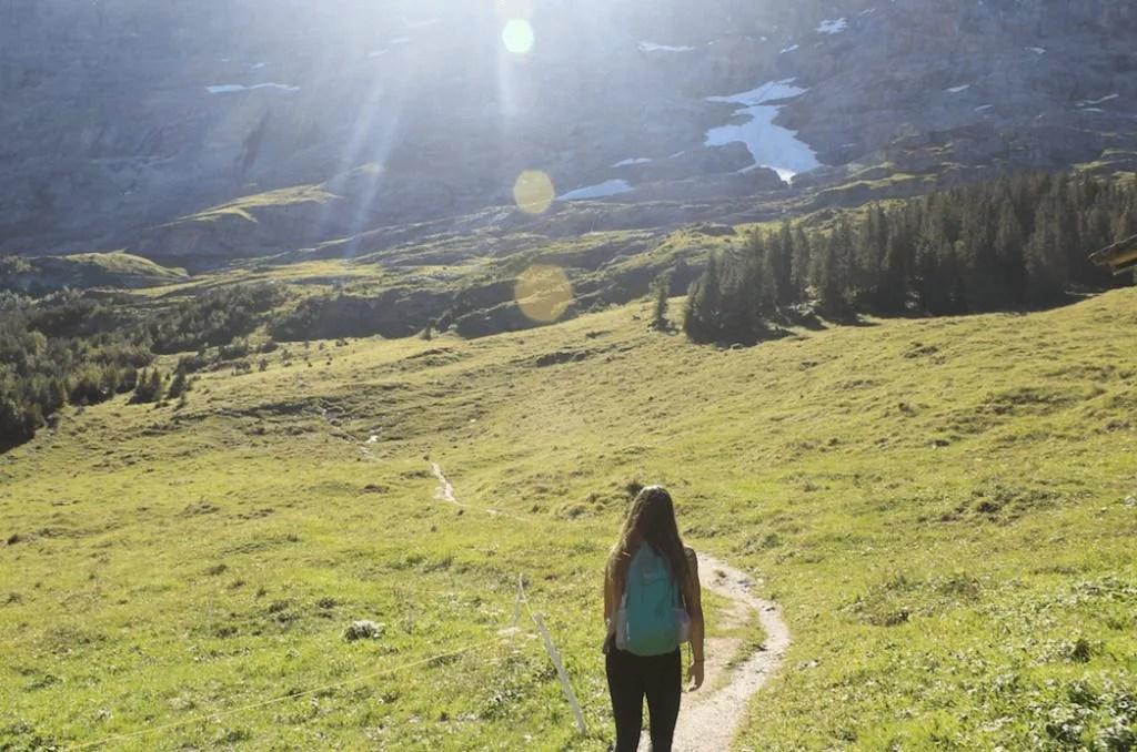 Hiking Eiger Near Interlaken, Switzerland