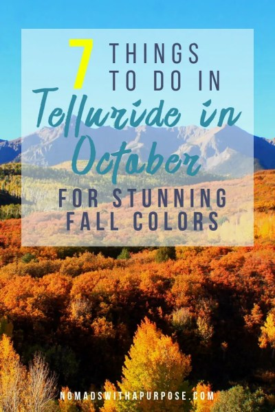 things to do in Telluride in October