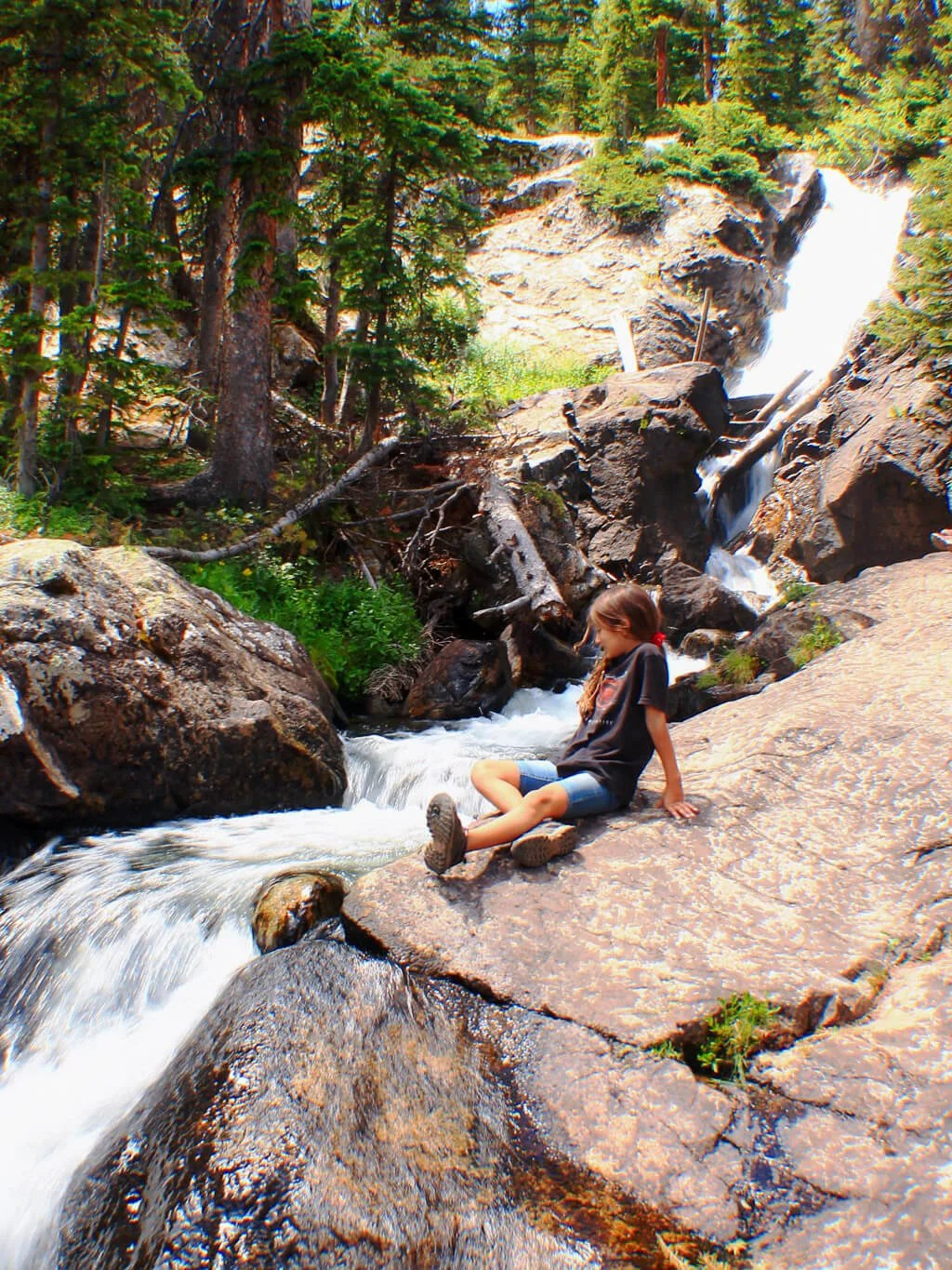 Hiking South Willow Falls in Silverthorne