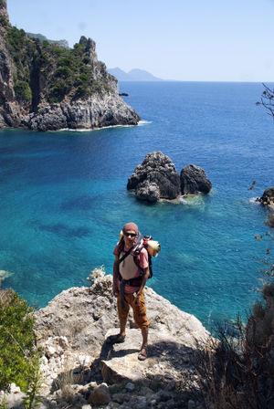 Mikael at Corfu, Greece